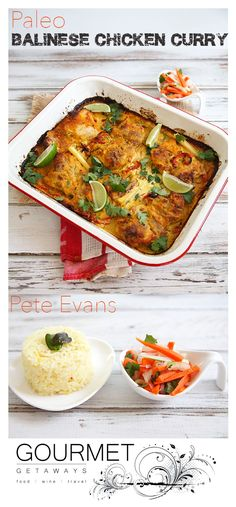 Pete Evans Balinese Chicken Recipe is a delicious authentic tasting recipe which can be made easily in the thermomix. The Chicken curry is a Paleo recipe. Curry Recipes, Wine Recipes, Indian Food Recipes, Paleo Recipes, Asian Recipes, Gourmet Recipes, Cooking Recipes, Gourmet Cooking, Indian Foods