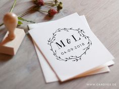 Wedding monogram • Save the Date Design • Wedding logo • DIY wedding