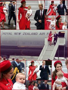 A day to remember - Prince George arrives in New Zealand for his first official tour.  Accompanying the adorable Prince, his doting parents, the Cambridges.