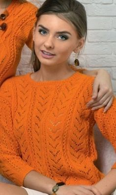 Free Knitting Patterns - Pullover in Leaf Pattern Knitting Paterns, Knitting Designs, Knitting Stitches, Knit Patterns, Free Knitting, Crochet Cardigan, Knit Crochet, How To Start Knitting, Lace Tops