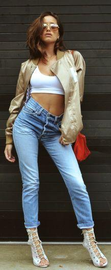 Keller Rose Golden Jacket Everyday Stylish Fall Outfit Idea