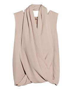 Silk Wrap Top Blouse
