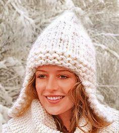 женская шапка с ушами вязаная крючком