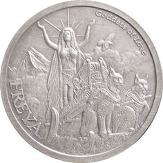 Buy 1 oz Antique Norse God Series Freya Silver Rounds l JM Bullion™ Silver Investing, Valuable Coins, Hobo Nickel, Antique Coins, Old Money, World Coins, Rare Coins, Silver Rounds, 1 Oz