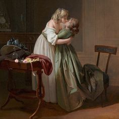 """ModernMarieAntoinette on Instagram: """"Two Young Women Kissing, Leopold Boilly 1790-1794. #18thcentury #arthistory #pride🌈 #fashionhistory #historicalcostuming #🌈 #boilly…"""" Vintage Lesbian, Lesbian Art, Gay Art, Couple Aesthetic, Aesthetic Art, Aesthetic People, Lgbt Love, Lesbian Love, Celine Sciamma"""