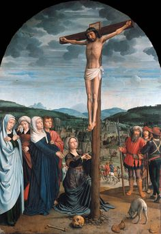 DAVID, Gerard Crucifixion c. 1515 Oil on oak, 141 x 100 cm Staatliche Museen, Berlin Religious Paintings, Religious Art, Gerard David, A4 Poster, Poster Prints, Art Print, Web Gallery Of Art, Google Art Project, The Cross Of Christ