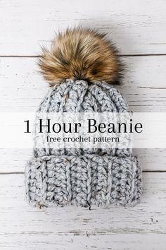 Quick Crochet Patterns, Easy Crochet Hat, Crochet Beanie Pattern, Knit Or Crochet, Mandala Crochet, Crochet Winter Hats, Crochet Humor, Crocheted Hats, Crochet Afghans
