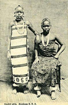 Swahili Girls. Mombasa Kenya c1910