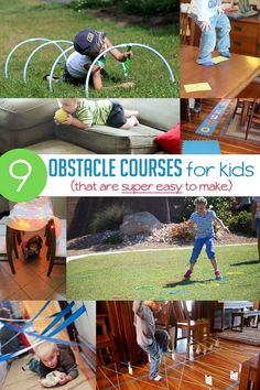 Obstacle Course for Kids: Ideas that are Super Simple - great movement games can be used for brain breaks in the classroom or home: