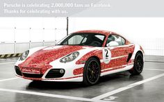 Facebook 2 millions de fan - Porsche Cayman S
