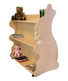 Maple Rabbit Mobile Double-Sided Bookcase on #zulily! #zulilyfinds