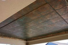 Hammered copper patina ceiling