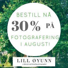 Nå har jeg en kampanje på fotografering i august!  Du kan velge fritt mellom bedriftsfotografering photomag (sjekk nettsiden for mer info) bryllup portretter og livsstil. #tilbudfotografering #fotografioslo #fotograf #sommerkampanje2016 #lilloyunnphotography