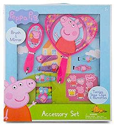 Peppa Pig Hair Accessory Set: Set includes, brush & mirror terries snap clips and barrettes. Peppa Pig Drawing, Peppa Pig Teddy, Bedroom For Girls Kids, Cool Toys For Girls, Pig Party, Girls Dress Up, Hair Accessories, Pig Birthday, Amazon