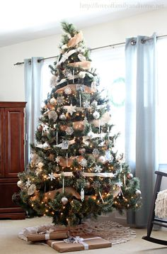Neutral, Rustic, Glam Christmas Tree