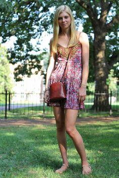 Who: Sara Bowman    What:student at Vanderbilt University    Wear: Free People dress, Tory Burch sandals
