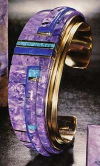 Charles Loloma - Purple-Aqua- Blue Cuff Bracelet