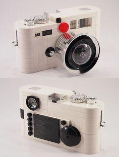White Leica M8 Faithfully Recreated Using LEGO Pieces