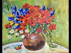 Easy Beginner Acrylic Painting Paint And Sip Style. Paint step by step with me in real time. - YouTube