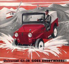 The Universal Jeep CJ-3B Goes Everywhere!