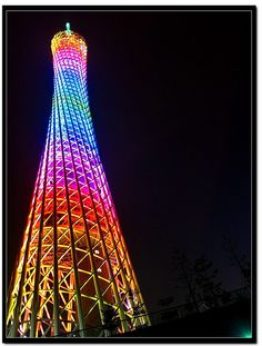 Canton Tower, Guangzhou, China  Dutch architects IBA gently twisted the latticed skin of China's tallest tower, giving it a graceful edge as it stretches 1,968 feet into the air.