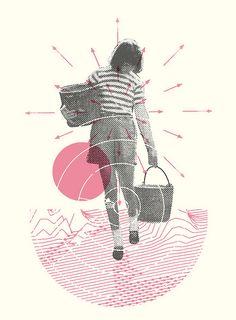 Halftone Collaged Illustration