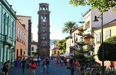 Torre de la iglesia de la Concepción en el centro histórico de La Laguna Tenerife, Canary Islands, New Theme, My Happy Place, 21st Century, Sunshine, Street View, Explore, Building