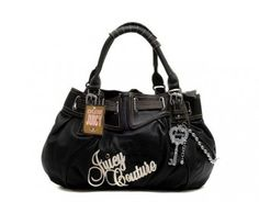 cheap - Cheap Juicy Couture Signature With Silver Key Free Style Bags - Black - Wholesale Discount Price