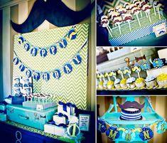 Mason Jar, Mr Man + Mustache 1st Birthday Party Planning