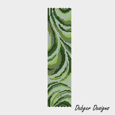 Greenberry Swirls - Peyote Cuff Pattern (PATTERN SAVING buy 2 - 3rd free). $6.50, via Etsy.