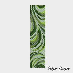 Greenberry Swirls - Peyote Cuff Pattern (PATTERN SAVING buy 2 - 3rd free). $6.50, via Etsy.
