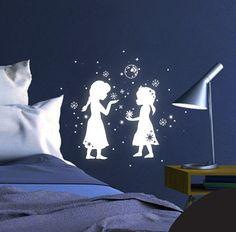 Leuchtsticker Schneekönigin fluoreszierend M1662 von deinewandkunst auf DaWanda.com