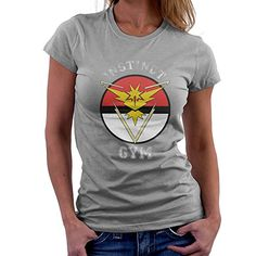 Pokemon Go Team Instinct Gym Womens TShirt >>> Want additional info? Click on the image.