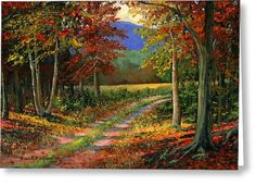 Forgotten Road Greeting Card by Frank Wilson