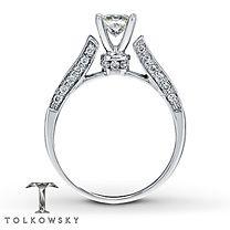 Tolkowsky® 14K Gold 1 ¼ Carat t.w. Diamond Engagement Ring