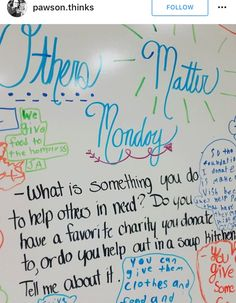 Others Matter Monday #Whiteboard