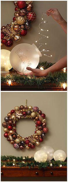 diy luminaries with fairy lights