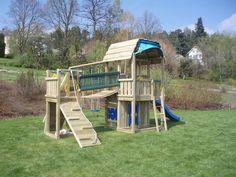SPEELTOREN - Jungle gym (barn + bridge module)