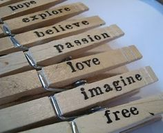Hand stamped clothespins tutorial