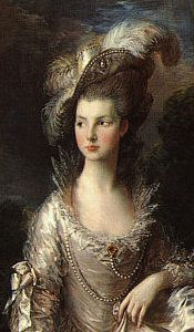 """Gainsborough's """"Mrs. Graham"""" at the Scottish National Gallery. After her death, Mr. Graham, too grief-stricken to look upon it any longer, donated her portrait to the Scottish National Gallery under the proviso that they not display it until after his death."""