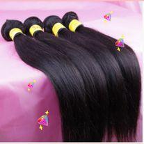 3 BUNDLES MALAYSIAN HAIR 18 INCHES 100 GRAMS EACH BUNDLE BLACK,STRAIGHT *ALL SALES FINAL*