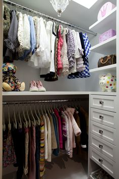 Making a baby's closet functional.