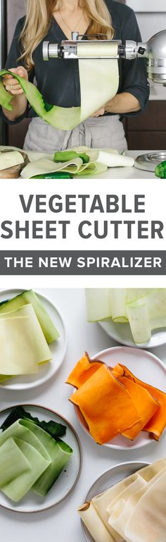 Is KitchenAid's Vegetable Sheet Cutter the new spiralizer? I sure think so! It will revolutionize your healthy and gluten-free recipes. #vegetablesheetcutter #kitchenaid #spiralizer