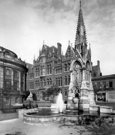 Photograph-Chamberlain Square, Birmingham Photo Print expertly made in the USA Birmingham City Centre, Birmingham England, West Midlands, Urban Landscape, Leicester, Old Town, Old Photos, Photo Mugs, Barcelona Cathedral