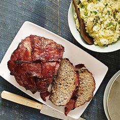 Bacon-Wrapped Meatloaf and Smashed Potatoes