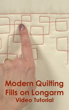 Maria Pate will give you an introduction to modern designs in quilting through showing you motifs that enhance your fabric and design. Plus extra tips and tricks to make modern quilting a breeze!
