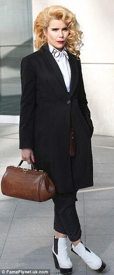 Paloma Faith as she arrived at the BBC studios