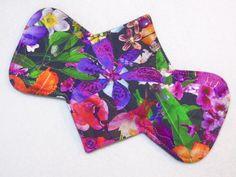"9.25"" Heavy - Multi Floral - Reusable Cloth Menstrual Pad (9HC)"