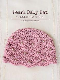 Hopeful Honey | Craft, Crochet, Create: Vintage Pearl Baby Hat - Free Crochet Pattern