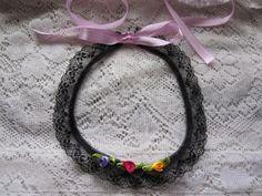 Victorian Choker  Rose Choker  Flower Choker Necklace